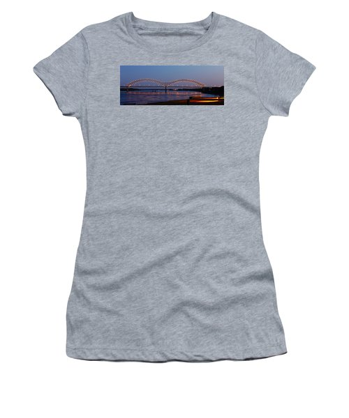 Memphis - I-40 Bridge Over The Mississippi 2 Women's T-Shirt (Athletic Fit)