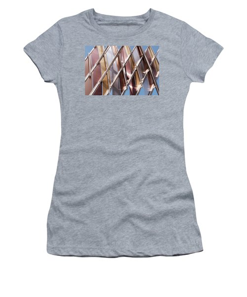 Metal Abstract With Lines And Angles In Lansing Michigan Women's T-Shirt