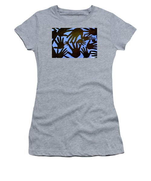 Metal Hands All Over The Place In Orlando Florida Women's T-Shirt
