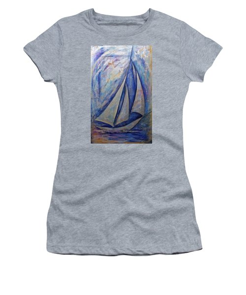 Metallic Seas Women's T-Shirt (Athletic Fit)