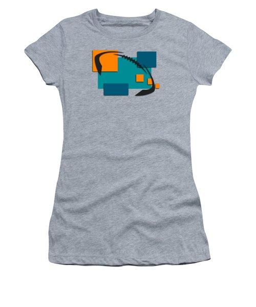 Miami Dolphins Abstract Shirt Women's T-Shirt (Junior Cut) by Joe Hamilton