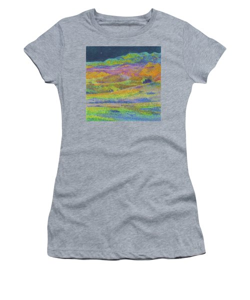 Women's T-Shirt featuring the painting Midnight Magic Dream by Cris Fulton