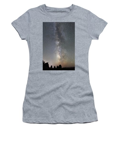 Milky Way Over Arches Np Two Women's T-Shirt