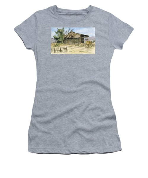 Mini No 1 Old Hay Shed Women's T-Shirt (Athletic Fit)