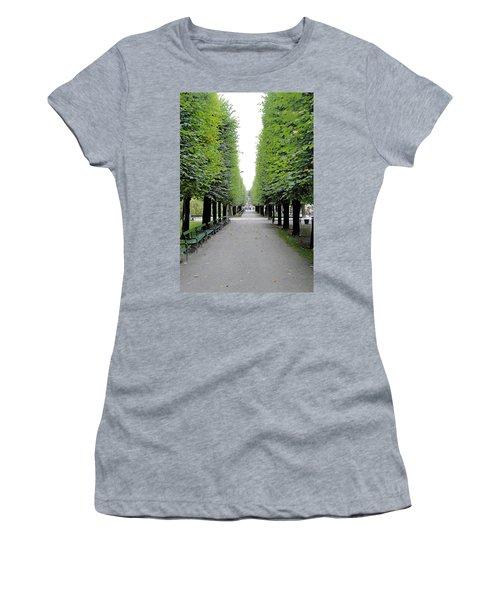 Mirabell Garden Alley Women's T-Shirt (Athletic Fit)