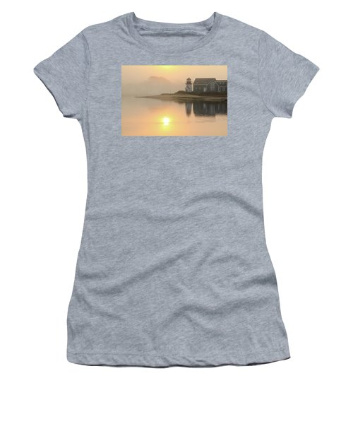 Misty Morning Hyannis Harbor Lighthouse Women's T-Shirt (Athletic Fit)