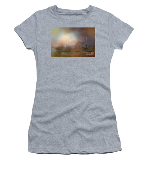 Misty Morning Women's T-Shirt (Junior Cut) by Kathy Russell