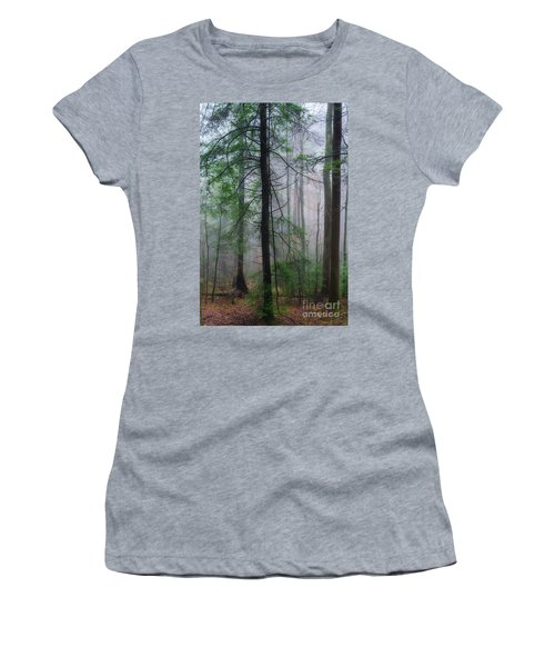 Misty Winter Forest Women's T-Shirt (Junior Cut) by Thomas R Fletcher