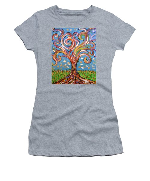 Modern Impasto Expressionist Painting  Women's T-Shirt (Junior Cut) by Gioia Albano