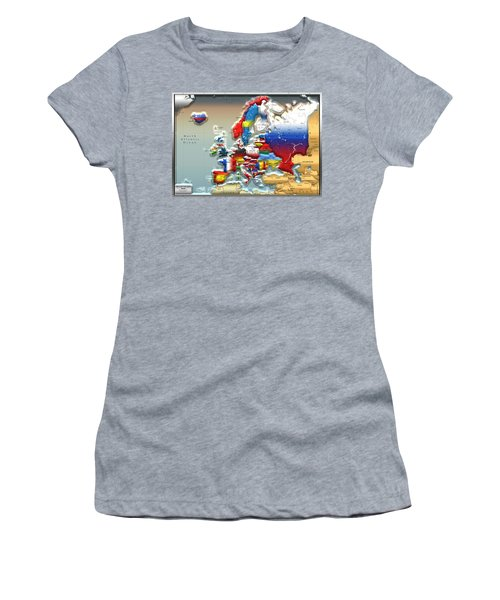 Modern Portrait Of Modern Europe - 3d Women's T-Shirt
