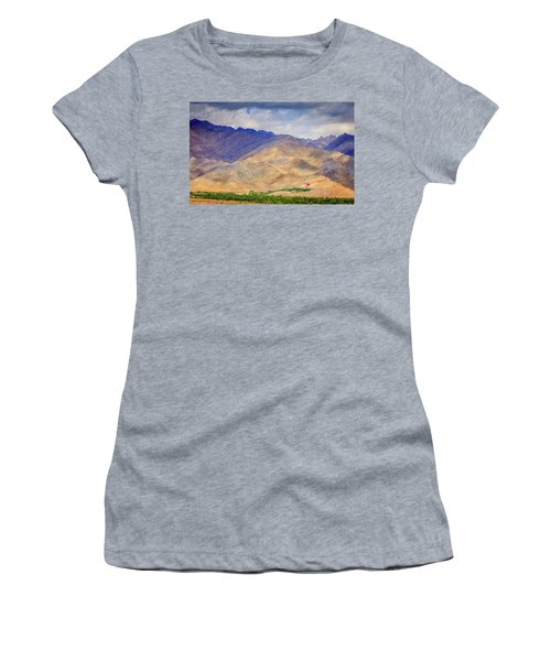 Women's T-Shirt (Junior Cut) featuring the photograph Monastery In The Mountains by Alexey Stiop