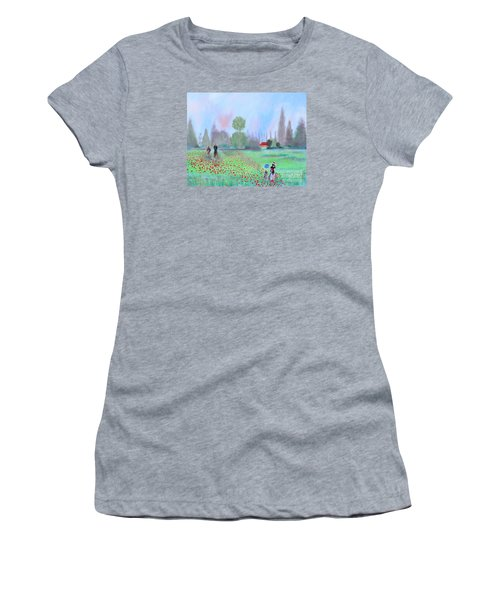 Monet's Field Of Poppies Women's T-Shirt (Junior Cut) by Stacey Zimmerman