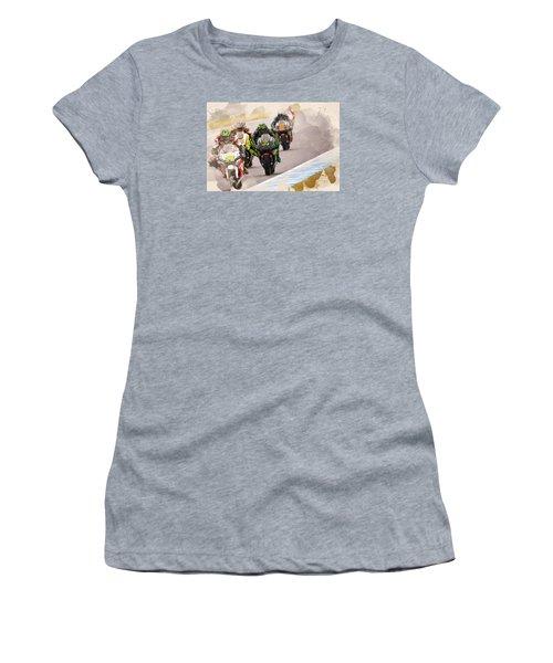 Monster Yamaha Tech 3, Women's T-Shirt (Athletic Fit)