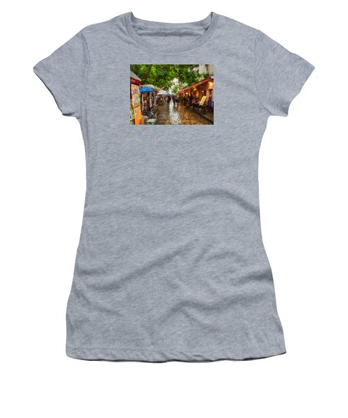 Montmartre Art Market, Paris Women's T-Shirt (Athletic Fit)