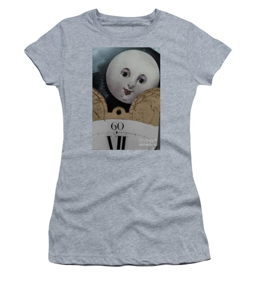Moon Face Women's T-Shirt (Athletic Fit)