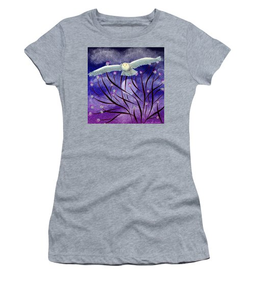 Women's T-Shirt (Athletic Fit) featuring the digital art Moonlight Hunt by Iowan Stone-Flowers