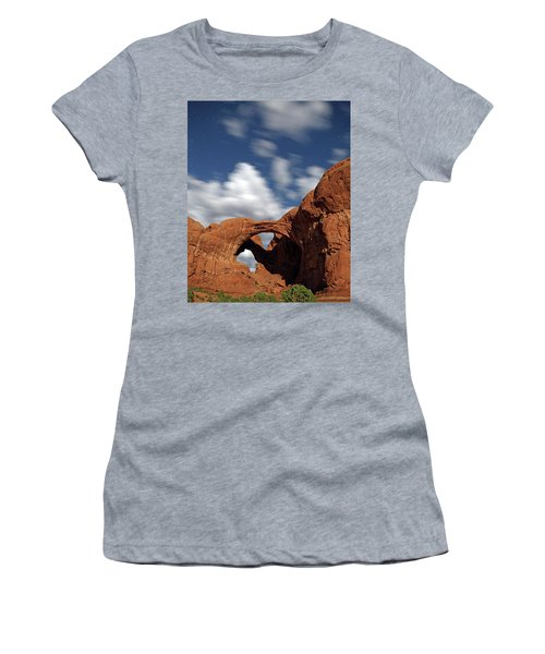 Moonlight On Double Arch In Arches Np Women's T-Shirt