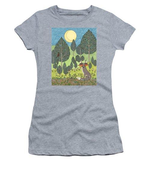 Moonlit Meadow Women's T-Shirt (Athletic Fit)