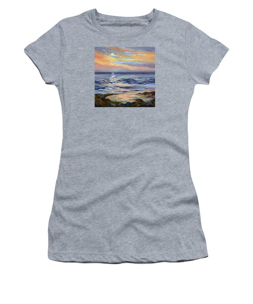Moonrise At Cabrillo Beach Women's T-Shirt (Junior Cut) by Jane Thorpe