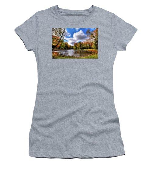 Moose River Near Scusa Road Women's T-Shirt (Junior Cut) by David Patterson