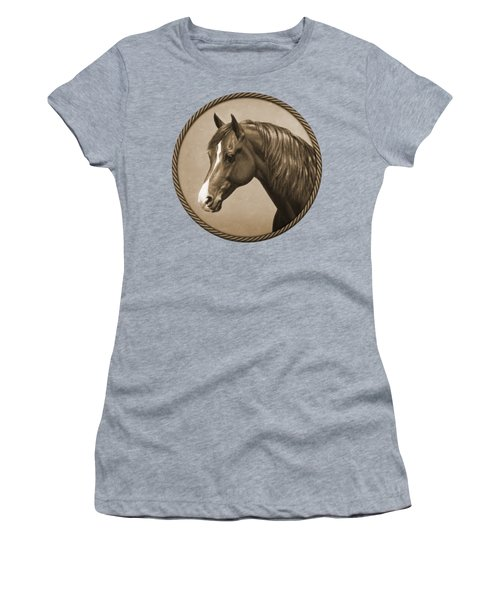 Morgan Horse Phone Case In Sepia Women's T-Shirt (Athletic Fit)