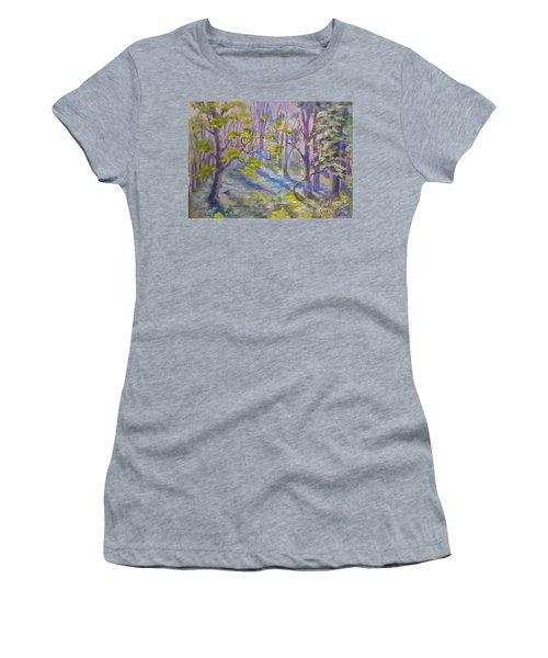 Morning Glory Women's T-Shirt (Junior Cut) by Genevieve Brown
