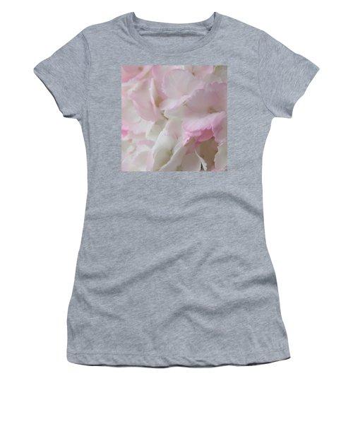 Morning Hydrangeas Macro Square Women's T-Shirt