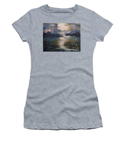 Morning Mountain Cove Women's T-Shirt (Athletic Fit)
