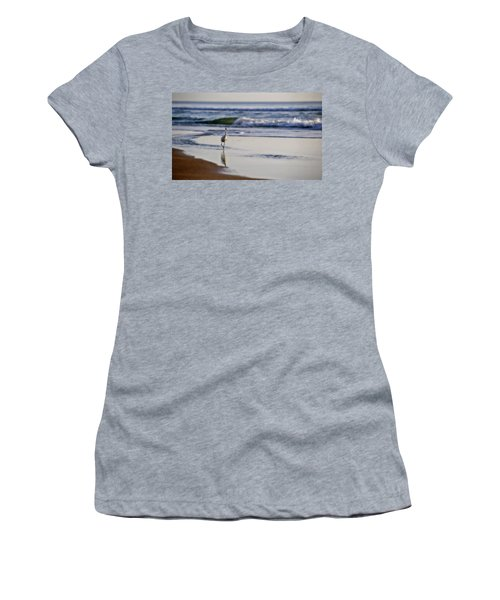 Morning Walk At Ormond Beach Women's T-Shirt (Athletic Fit)