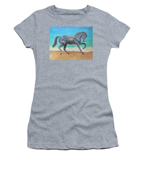 Women's T-Shirt (Junior Cut) featuring the painting Mosaic by Elizabeth Lock