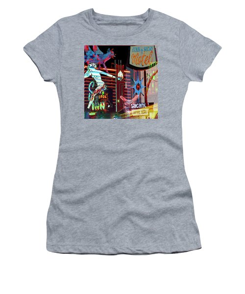 Motel Variations Night Of The Flyng Coyote Women's T-Shirt (Athletic Fit)