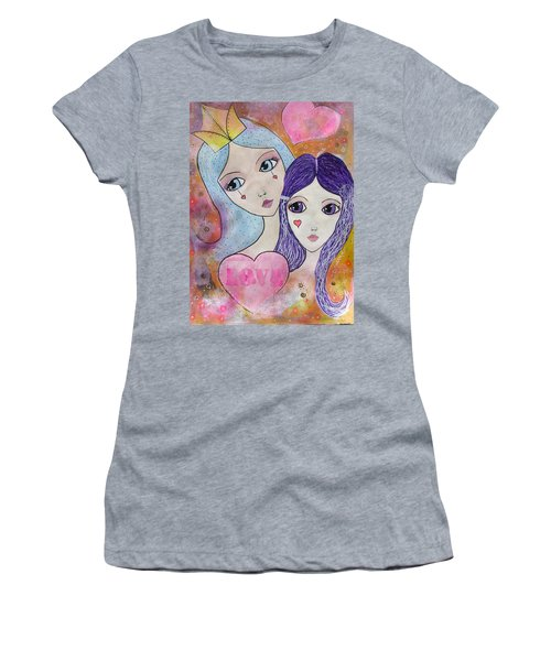 Mother And Daughter Women's T-Shirt (Athletic Fit)