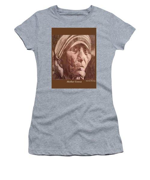 Mother Teresa  Women's T-Shirt (Junior Cut) by Gavin Dorsey