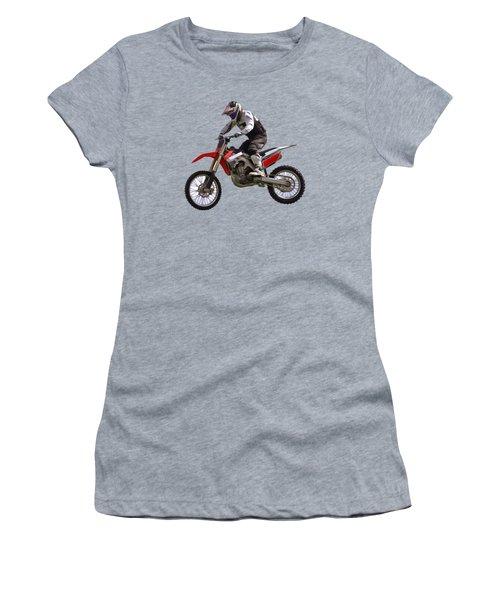 Women's T-Shirt (Junior Cut) featuring the digital art Motocross by Scott Carruthers
