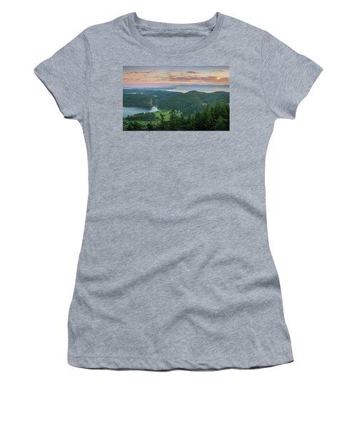 Mount Erie Viewpoint Women's T-Shirt (Junior Cut) by Ken Stanback