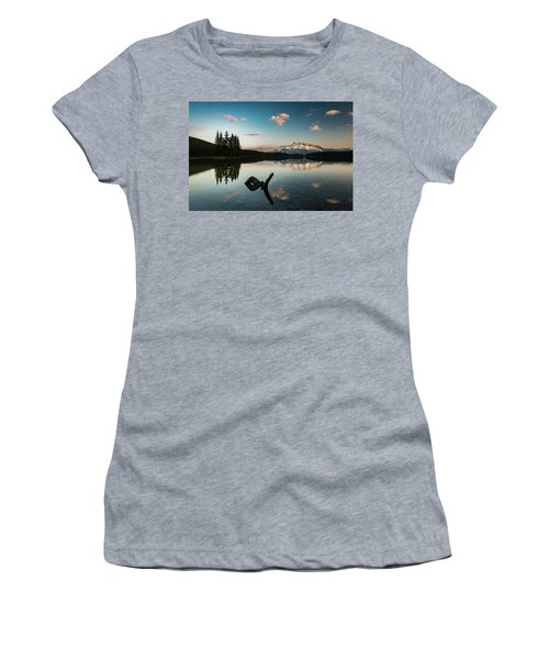 Mount Rundle And Two Jack Lake Women's T-Shirt (Athletic Fit)