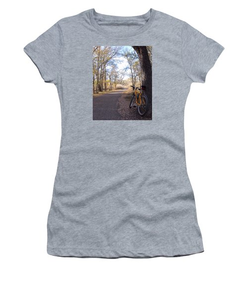 Mountain Bike Trail Women's T-Shirt (Athletic Fit)