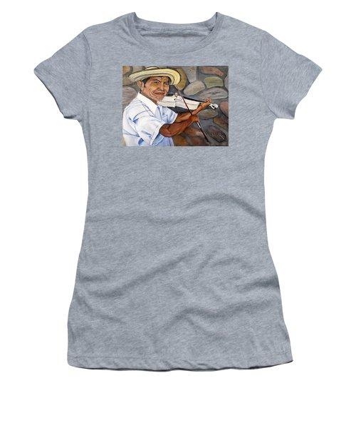 Mountain Fiddler Women's T-Shirt (Junior Cut) by Marilyn McNish