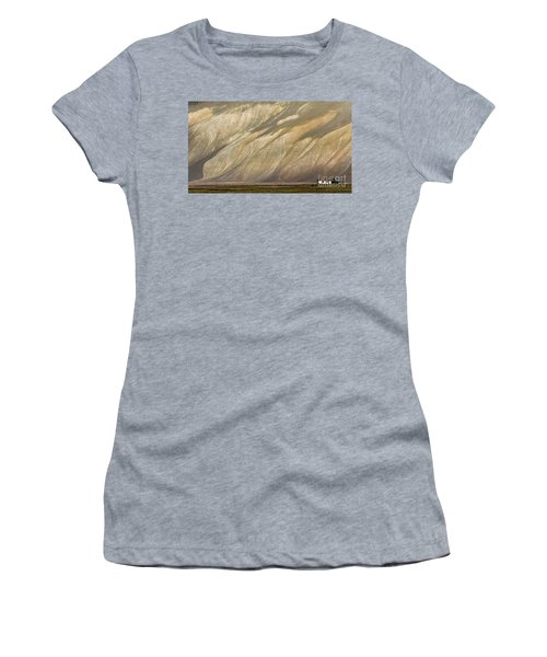 Women's T-Shirt (Athletic Fit) featuring the photograph Mountain Patterns, Padum, 2006 by Hitendra SINKAR