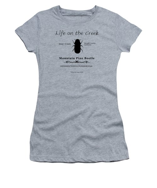 Mountain Pine Beetle Black On White Women's T-Shirt (Athletic Fit)