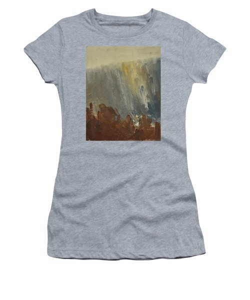 Mountain Side In Autumn Mist. Up To 90x120 Cm Women's T-Shirt