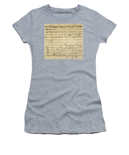Women's T-Shirt featuring the photograph Mozart: Requiem Excerpt by Granger