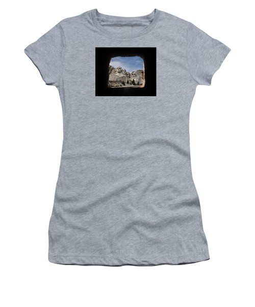 Women's T-Shirt (Junior Cut) featuring the photograph Mt Rushmore Tunnel by David Lawson