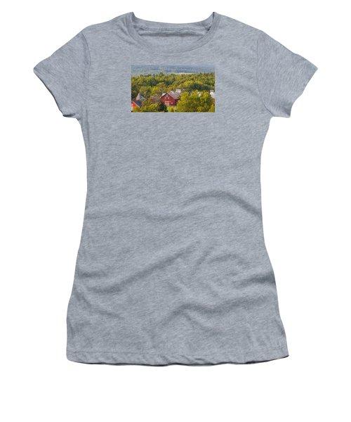 Mt View Farm In Summer Women's T-Shirt (Junior Cut) by Tim Kirchoff