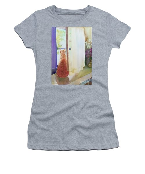 Muffin At Window Women's T-Shirt (Athletic Fit)