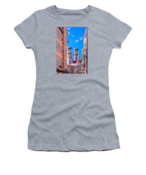 Munich Center Women's T-Shirt (Junior Cut) by Juergen Klust