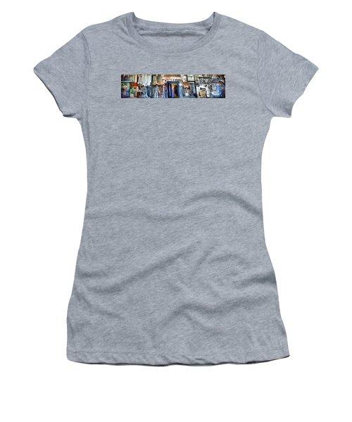 Mural Coit Tower Interior Panorama  Women's T-Shirt
