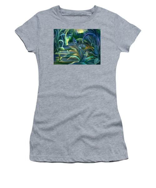 Mural  Insects Of Enchanted Stream Women's T-Shirt