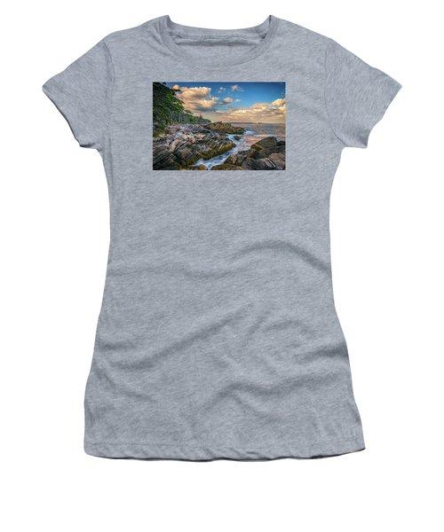 Muscongus Bay Women's T-Shirt (Junior Cut) by Rick Berk