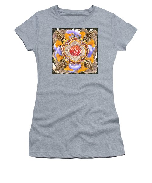 Mushroom Mandala Women's T-Shirt (Athletic Fit)